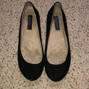 Jessica Simpson sparkle toe ballet flats 8